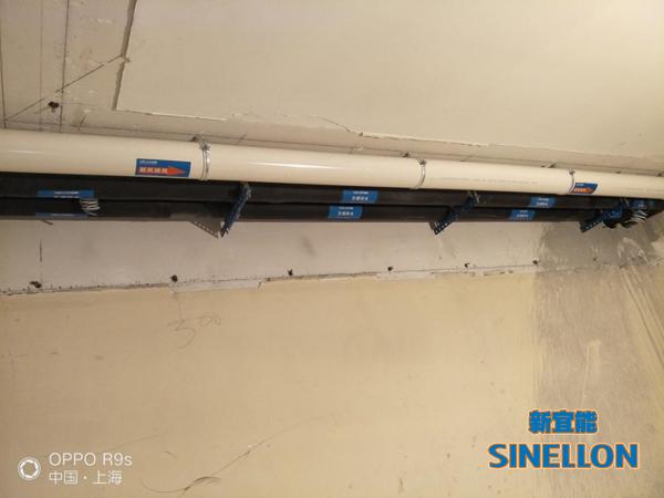 白金瀚宫葡京游戏大厅室内空调和新风管道安装