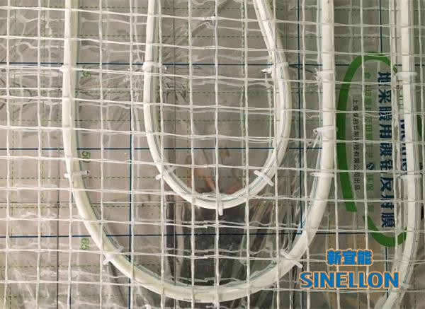 白金瀚宫葡京游戏大厅地暖安装硅晶网铺设细节