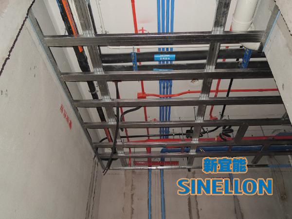 合生东郊葡京游戏大厅室内空调管道布置(1)