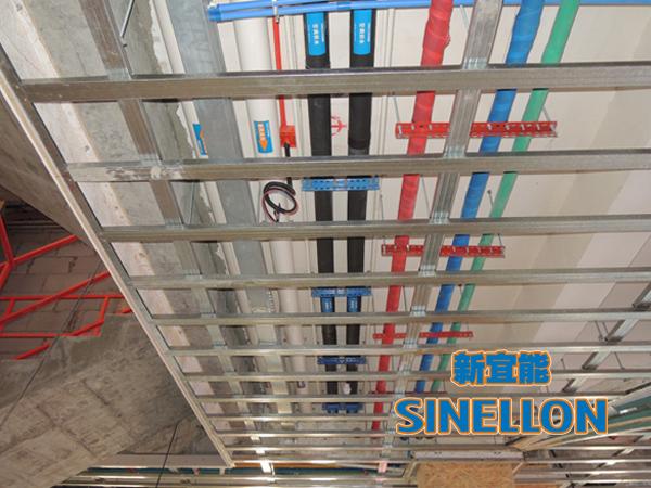 合生东郊葡京游戏大厅室内空调管道布置(2)