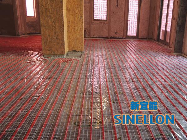 合生东郊葡京游戏大厅室内地暖管铺设(1)