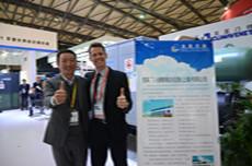 2015中国制冷展,新宜能总经理与克莱门特厂家代表合影